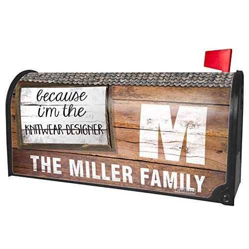 NEONBLOND Custom Mailbox Cover Because I'm The Knitwear Designer Funny -