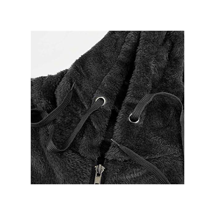 5120h ImKjL 🍀95% poliéster 5% spandex, material de vellón sherpa súper suave y borroso, tiene pelusa por dentro y por fuera, ¡definitivamente te mantendrá caliente todo el día! 🍀 Oversize Top de gran tamaño, estilo suelto con capucha y bolsillos: este grueso abrigo con capucha está disponible en tallas grandes teniendo en cuenta que es holgado, mangas largas con acabados de canalé, cuello con cremallera 1/4, 2 bolsillos laterales para mantener las manos calientes, sudadera con capucha, Perfecto para mujeres, damas, juniors. Hecho de acrílico, material suave, agradable para la piel
