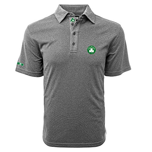 Levelwear LEY9R NBA Boston Celtics Men's Affirmed Dart Polo, Heather Grey/Black, Small