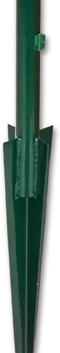 Pfosten Zaunpfahl Zaunpfosten mit Bodenh/ülse /Ø 38 mm//f/ür Zaunh/öhe 80 cm zum Maschendrahtzaun