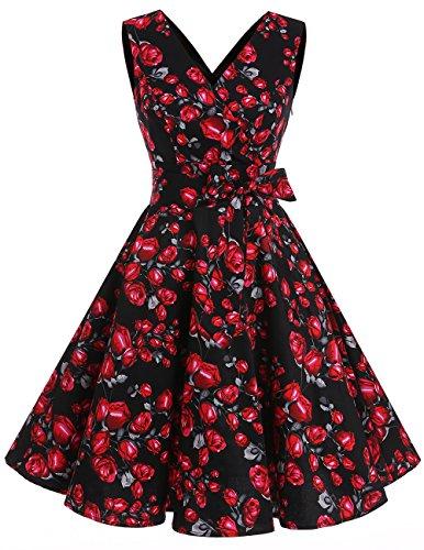 40s black tie dress - 5