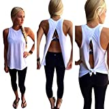 Franterd Women Summer Blouse Vest Sleeveless Casual T-Shirt Tank Tops