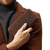 GSG Woven Crazy Horse Genuine Leather Wallet Zipper Business Card Holder Purse Organizer Fashion Phone Wallet Case Brown
