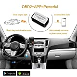 Bluetooth Scanner Amtake OBD2 Bluetooth Adapter OBDII Diagnostic Tool Car Engine Trouble Code Reader for Android & Tablet with ON/OFF Switch - Black