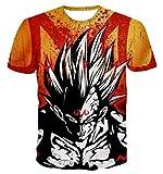 Compression Tee-Shirt Anime 3D Print Dragon Ball Z Tshirt Vest MMA Rash Guard Vegeta Goku T-Shirt Funny Tees Shirts (3XL)