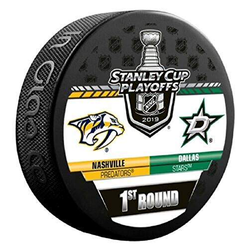 2019 Stanley Cup Playoffs Hockey Puck 1ST Round Predators VS. Stars Souvenir Puck Finals Shipping Now!!!