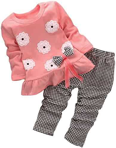BomDeals Adorable Cute Toddler Baby Girl Clothing 2pcs Outfits