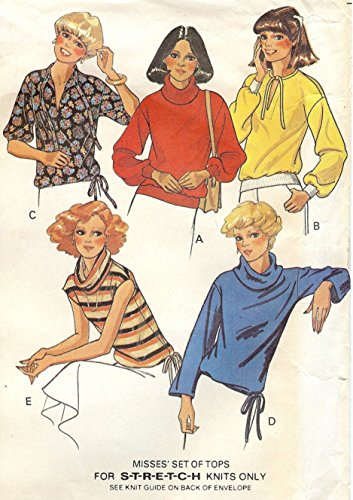 McCall's vintage 1970s sewing pattern 5911 knit tops - Size M (1970s Knit Top)