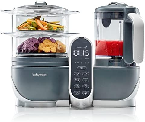 Babymoov Duo Meal Station Food Maker | 6 in 1 Food Processor with Steam Cooker