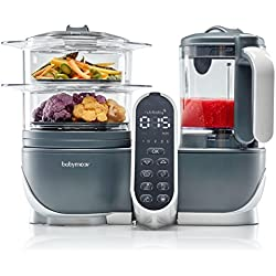 Babymoov Duo Meal Station | 5 in 1 Food Processor with Steam Cooker, Multi-Speed Blender, Baby Purees, Warmer, Defroster, Sterilizer