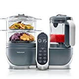 Babymoov Duo Meal Station 5 in 1 Food Maker with Steam Cooker, Blend & Puree, Grey