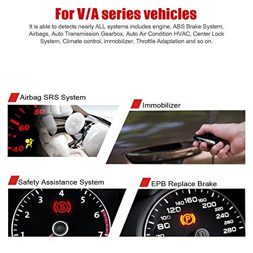 ANCEL VD500 OBD II Diagnostic Scanner for Volkswagen VW Audi Skoda Seat Check Engine Light EPB ABS SRS Code Reader Oil Throttle Position Adaption Brake Pad Reset Tool by ANCEL (Image #3)
