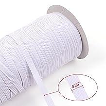 Allure Maek Heavy Stretch Braided Elastic Cord Spool, 70-Yards-by-0.25-Inch, White