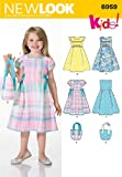 New Look Sewing Pattern 6959 Child Dresses, Size A (3-4-5-6-7-8)
