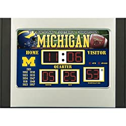 Michigan Wolverines Scoreboard Desk Clock by Team Sports America