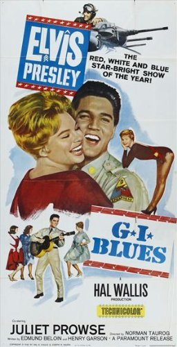 Elvis Movie Poster (G.I. Blues POSTER Movie (27 x 40 Inches - 69cm x 102cm) (1960) (Style B))