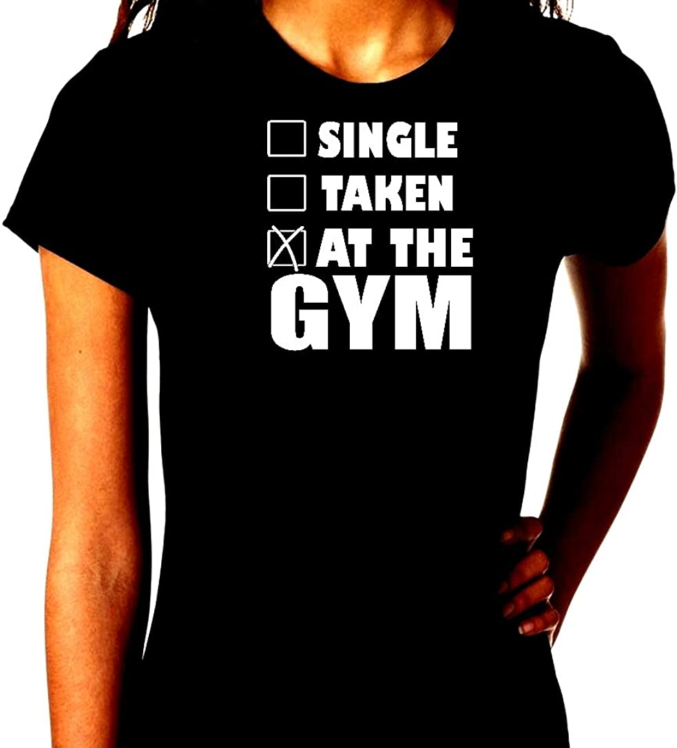 Single Taken at The Gym Workout Humor Trendy Unisex Short Sleeve T-Shirt Tee Shirt Gift