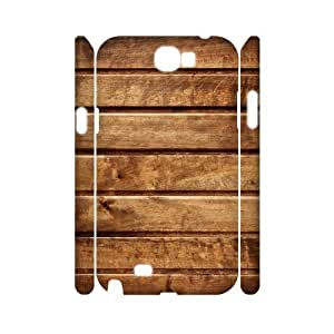3D Samsung Galaxy Note 2 Case,Wood Planks Horizontal Texture Hard Shell Back Case for White Samsung Galaxy Note 2