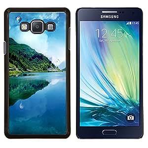 KLONGSHOP // Cubierta de piel con cierre a presión Shell trasero duro de goma Protección Caso - Sueño Pier - Samsung Galaxy A7 A7000 //