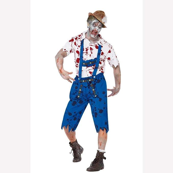 WANLN Disfraz de Zombie de Terror Disfraz de caníbal de Vampiro de ...