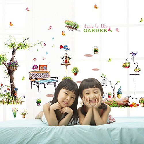 Green Home Home Garden Grove romantic wind transparent PVC wall sticker Christmas Halloween decorations-YU&XIN -