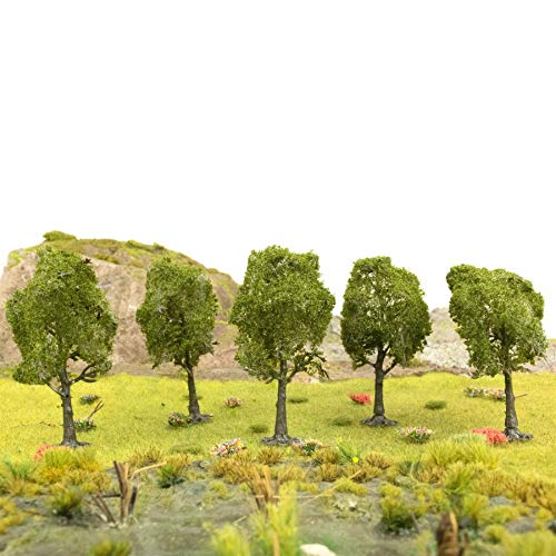 War World Scenics Deciduous Type Tree 80mm Dark Green (Choose Quantity) - OO Gauge Scale Scenery Terrain Landscape Model Railways Layout Forest Wargame
