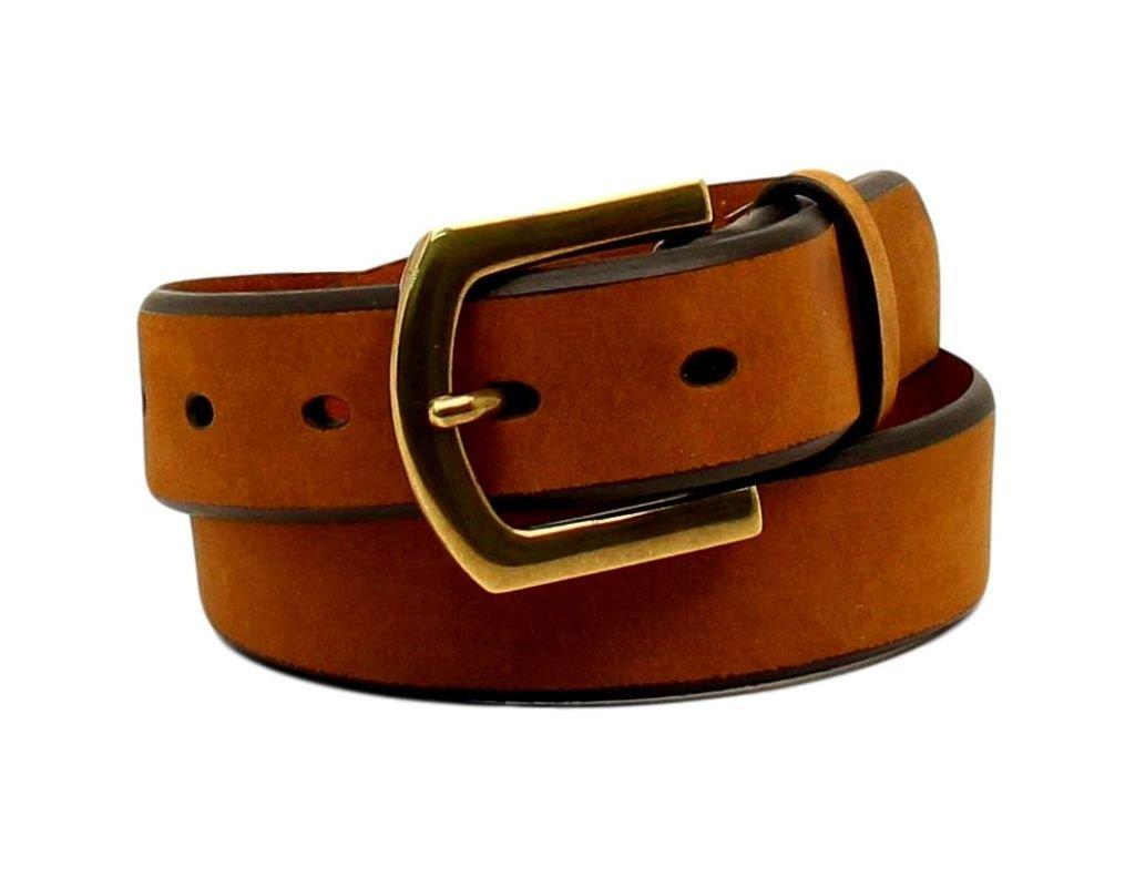 Nocona Boy's Plain Strap Simple Buckle Belt, Medium Brown, 24