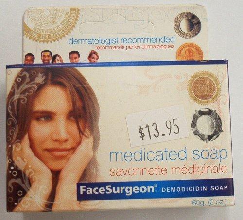FaceSurgeon Medicated Soap, 60 g (2 oz)