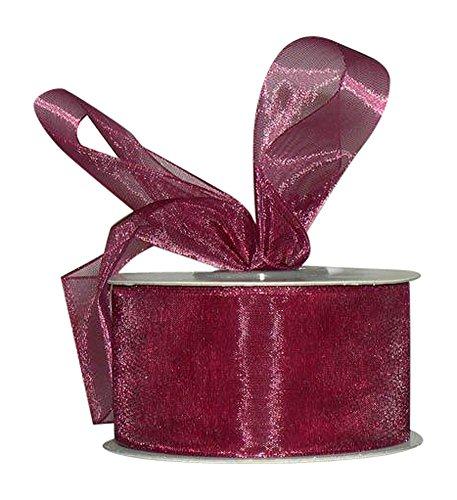 (Ribbon Bazaar Sheer Organza 1-1/2 inch Wine 100 Yards 100% Nylon Ribbon)