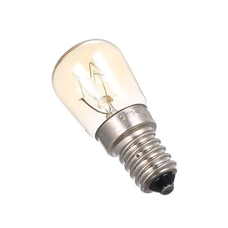 Lilideni AC220-240V 25 W Bombilla incandescente de tungsteno E14 Base Socket Holder para Horno Horno de Pan Refrigerador Refrigerador portátil Mini ...