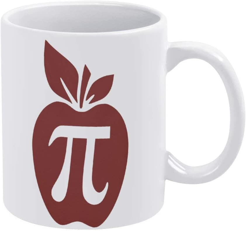 Apple Pi Tote Bag, Coffee Mug, Back to School Ceramic Mug Cup for Office and Home,Tea Milk,Birthday Gift For Her or Him,11oz