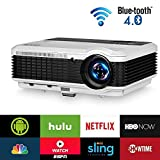 EUG Wireless LCD Projector 3600 Lumens- Bluetooth Airplay Miracast WiFi- Multimedia Home Theater