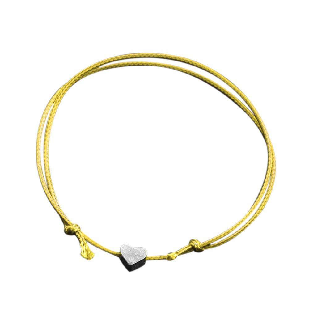 FEDULK Crystal Heart Bracelet for Women Romantic Fashion Classic Luxury Chain Anklets Bracelet(One Size, One Size)