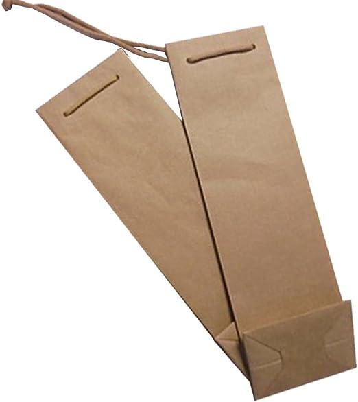 Unidades 40 sobre puerta botellas (1 botella) con cordel estuche de papel de regalo (Vino 75 cl) Box for Bottles caja de papel: Amazon.es: Hogar