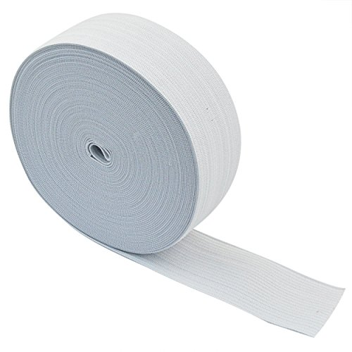 Jmkcoz White Springy Stretch Knitting Sewing Elastic Spool Elastic Bands, 1.5 Inch x 11 Yard