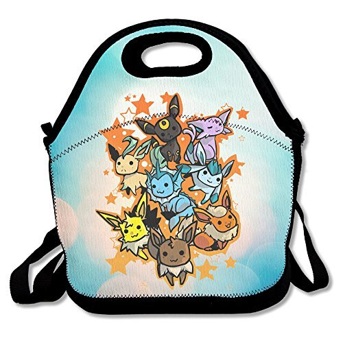 [Bakeiy Eevee Evolution Lunch Tote Bag Lunch Box Neoprene Tote For Kids And Adults For Travel And Picnic] (Father Of The Year Costume)