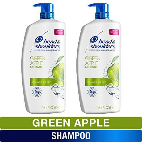 Head and Shoulders Shampoo, Anti Dandruff Treatment, Green Apple, 32.1 fl oz, Twin Pack