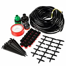 Doitb 15m Hose Micro Drip Irrigation Sprinkler System Kit Garden Greenhouse Landscaping Plant Tubing Watering Drip Kit Accessories
