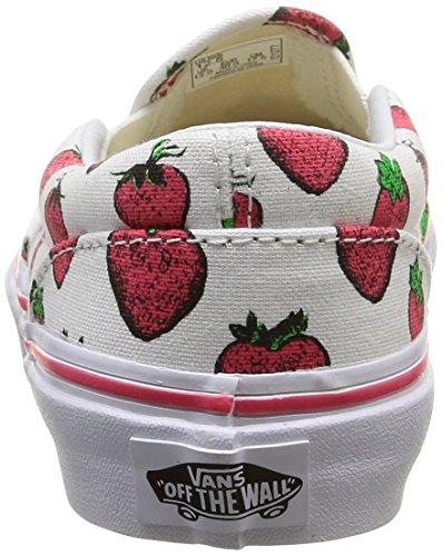 Vans Classic Slip-On, Zapatillas Niños-Niñas, Multicolor (Chambray/Parrot/true White), 31.5 EU Blanco (strawberries/true White)
