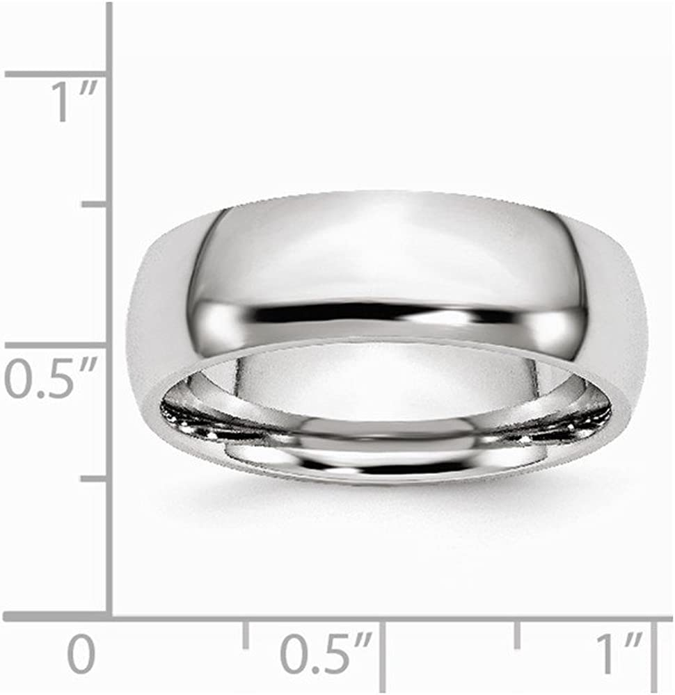 Cobalt Polished 7mm Band Size