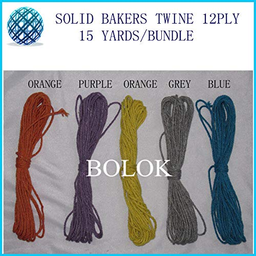 FINCOS Solid Bakers Twine 15yards/Bundle 2mm 12 ply 20pcs/lot Solid DIY Twine,Plain Bakers Twine 10 Color wholesales by