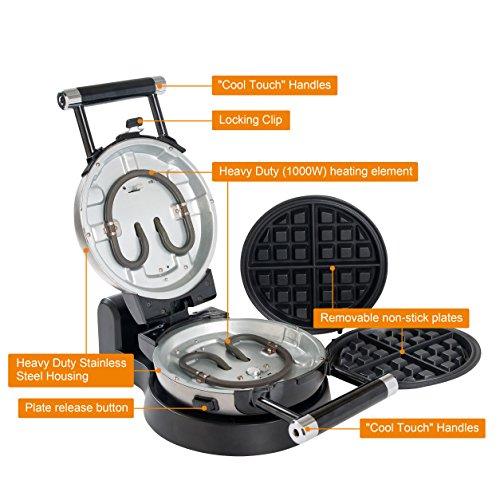 Secura 360 Rotating Waffle w/Removable Plates 2 Year Warranty