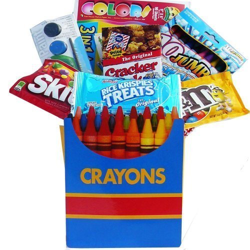 Art of Appreciation Gift Baskets Color Me Crazy Playtime Snacks and Activity Gift Bag Set (Halloween Food Party Ideas Snacks)