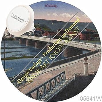 Cerámica Vintage Pomo para muebles 05641 W Blanco rg14 comer kettwig Wohnideen-Shop Nostalgie – Cajones, armario, muebles, asas – 100% fabricado en Alemania.: Amazon.es: Bricolaje y herramientas