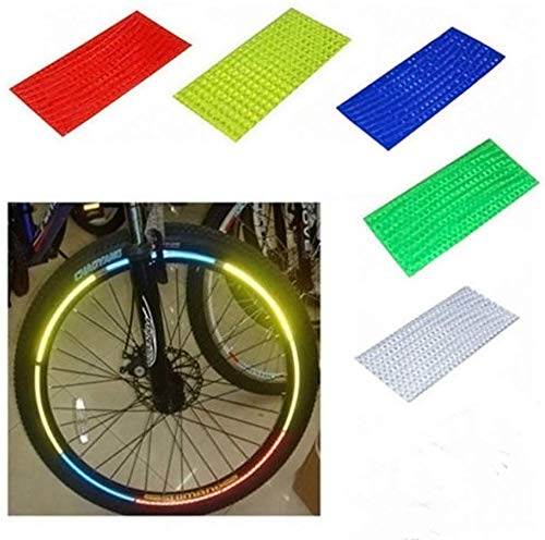 USAMS 40 Bright Reflector Stickers for Sport Bike,Bicycle Wheels-Light Reflective Stick On for Helmet,Car Bumper, Wheel Rim Stickers