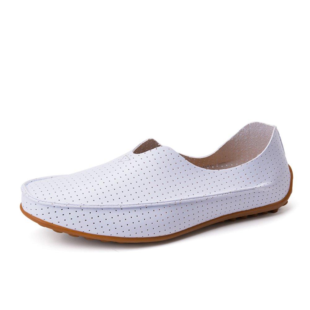 Zapatos de hombre de verano/zapatos casuales/Los zapatos de ventilación de guisantes/El conductor de un pedal de zapatos/Zapatos marea coreanos-G Longitud del pie=26.8CM(10.6Inch) XMZyk8sisq