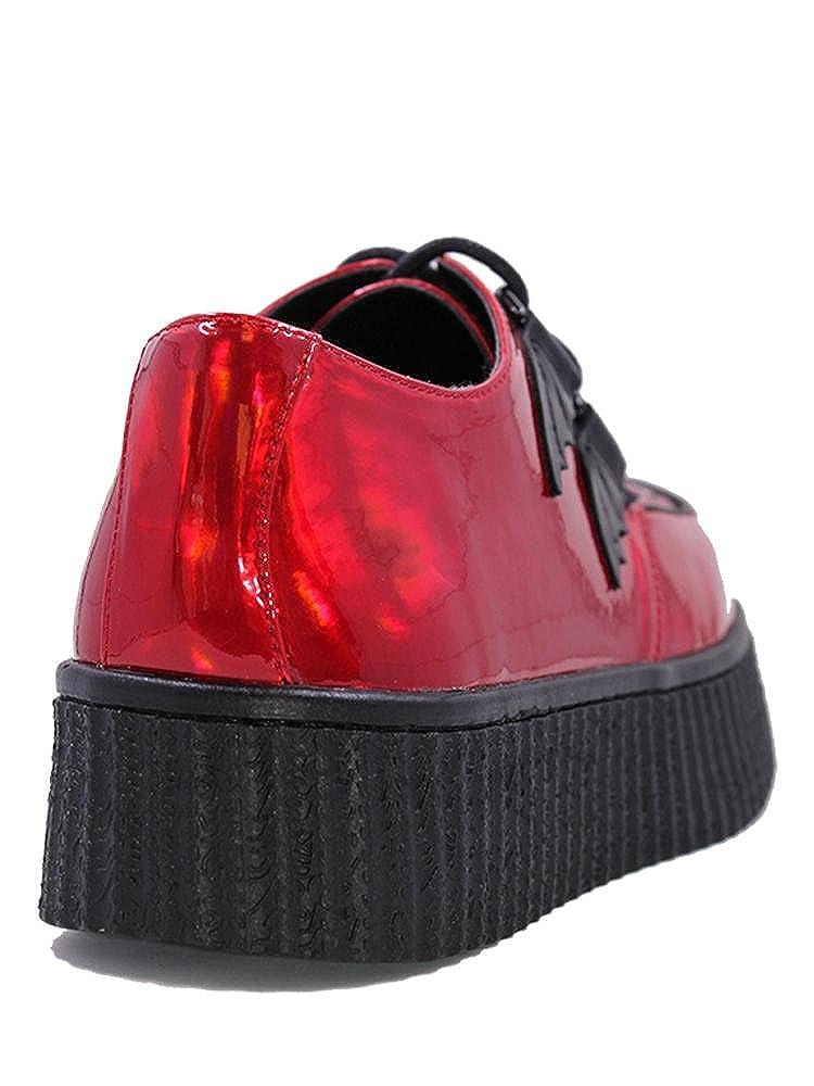 Strange CVLT Y.R.U KRYPT X Ash Costello Metallic Red Hologram Bat Wing Shoe