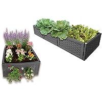 UPP Multifunktions Hochbeet Flexibel & erweiterbar in Anthrazit Ideal für Blumen- Oder Gemüsebeete/Komposter/Sandkasten/Frühbeet/Blumenbeet/Anzuchtbeet/Systembeet
