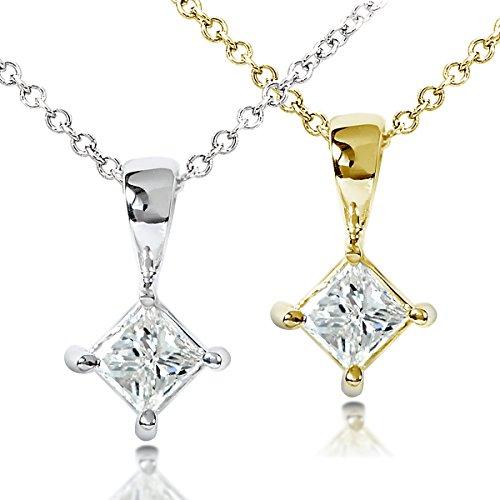 Un Diamant Solitaire rond 1/3carat-Pendentif en or 14K