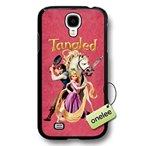 Cartoon Movie Disney Tangled Princess Rapunzel Hard Plastic Phone Case & Cover for Samsung Galaxy S4 - Black by mcsharks
